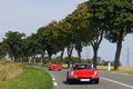 KB RossoCorsa IV - Ferrari 246 GT Dino rouge & 355 GTS rouge face avant travelling
