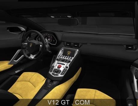 Lamborghini aventador lp700 4 jaune int rieur for Interieur lamborghini