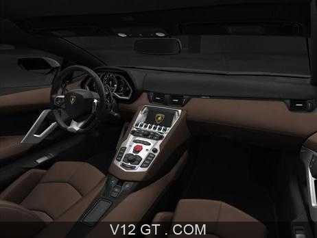 Lamborghini Aventador LP700-4 marron mate intérieur / Lamborghini ...