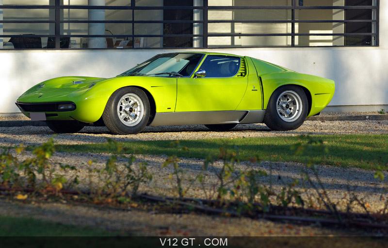 Lamborghini Miura Svj Vert Citron Profil Lamborghini Photos