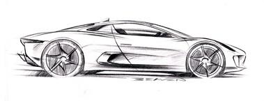 Jaguar c x75 gt infos gt news v12 gt l 39 motion automobile - Voiture profil dessin ...