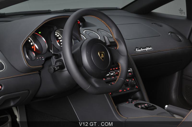 Lamborghini gallardo lp560 4 bicolore orange noir for Interieur lamborghini
