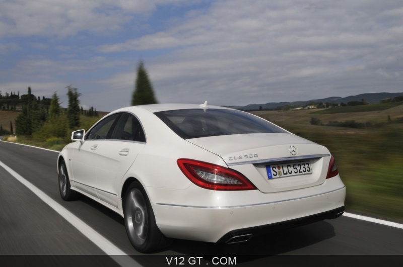 Mercedes Cls 500 Blanc 3 4 Arri Re Gauche Travelling