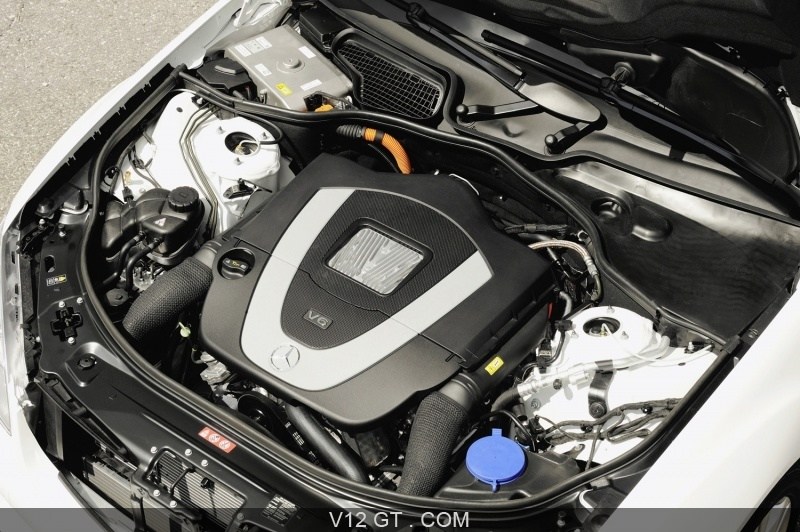 Mercedes S400 Hybrid Blanche Moteur Mercedes Benz