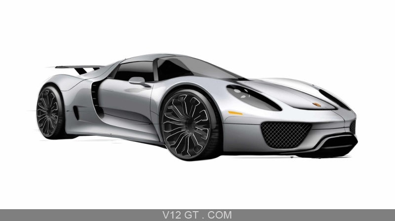 porsche 918 spyder gris 3 4 avant droit dessin porsche photos gt les plus belles photos de. Black Bedroom Furniture Sets. Home Design Ideas