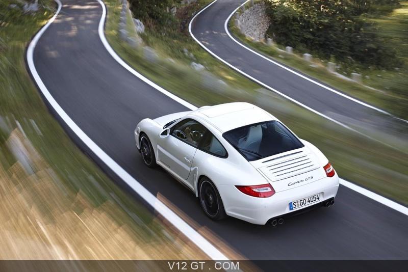 Essai d 39 une automobile gt la porsche 997 carrera gts - Voiture vue de haut ...