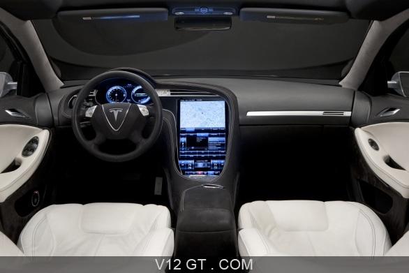 Tesla model s gris int rieur tesla photos gt les for Interieur tesla model s