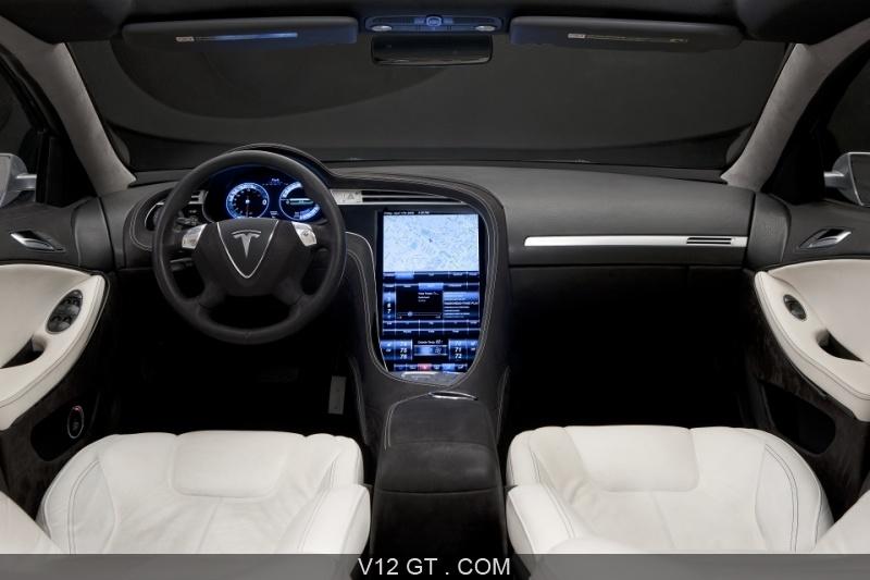Tesla model s gris int rieur tesla photos gt les for Interieur tesla