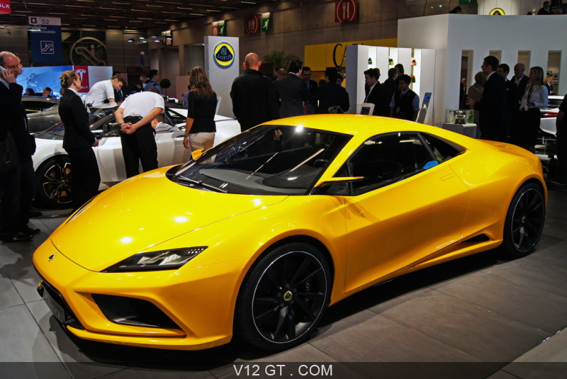 Mondial de l\'Automobile Paris 2010 - Lotus Elan concept orange 3/4 ...