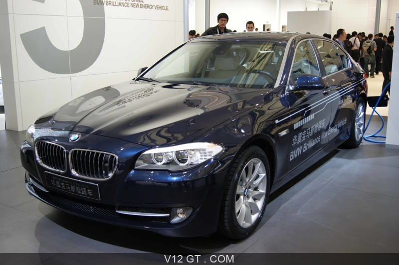 bmw s rie 5 hybride bleu 3 4 avant gauche salon de shangai 2011 photos salons les plus. Black Bedroom Furniture Sets. Home Design Ideas