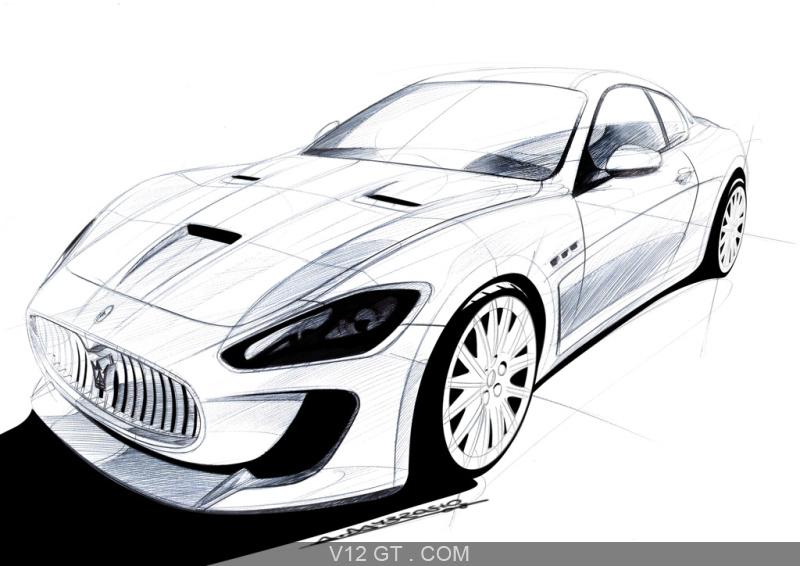 Maserati Granturismo Mc Concept Dessin 3 4 Avant Gauche Maserati Photos Gt Les Plus Belles