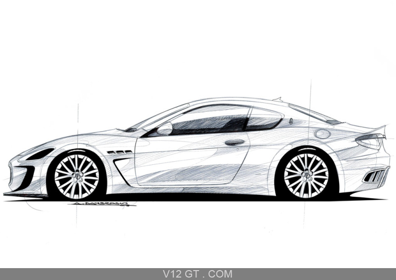 Maserati granturismo mc concept dessin profil maserati - Dessin voiture profil ...