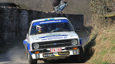 Ford Escort MK2, Blanche, Bjorn Waldegaard, action face