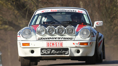 Porsche 911, Robert Droogmans, blanche, action face