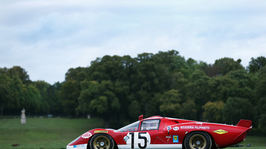 Chantilly Arts & Elégance 2017 - Ferrari 512S rouge profil