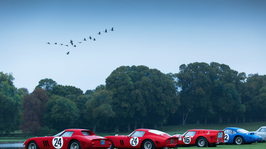 Chantilly Arts & Elégance 2017 - line-up Ferrari 250