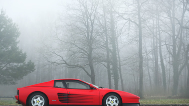 Coupes de Printemps 2015 - Ferrari Testarossa rouge profil