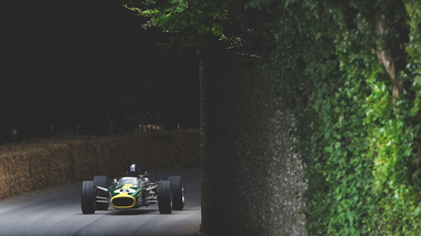 Goodwood Festival of Speed 2017 - ancienne F1 vert/jaune face avant
