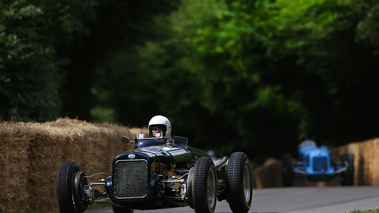 Goodwood Festival of Speed 2017 - Delage noir 3/4 avant gauche
