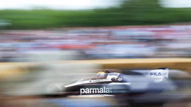 Goodwood Festival of Speed 2017 - F1 noir 3/4 arrière filé