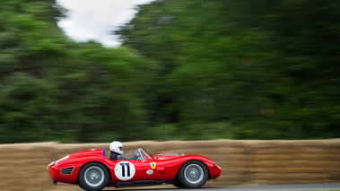 Goodwood Festival of Speed 2017 - Ferrari 250 Testa Rossa rouge filé