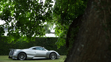 Goodwood Festival of Speed 2017 - Pagani Zonda C12S gris 3/4 arrière droit