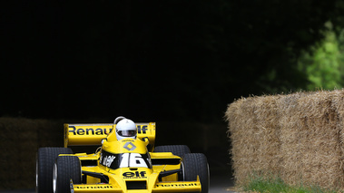 Goodwood Festival of Speed 2017 - Renault F1 jaune 3/4 avant droit