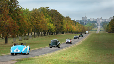 Windsor Castle Concours of Elegance 2016 - line-up jardins