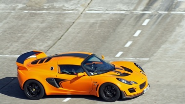 Lotus Exige Cup 260 orange 3/4 avant droit filé