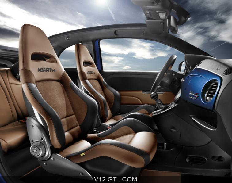 Abarth 500 cabrio italia int rieur abarth photos gt for Interieur 500 abarth