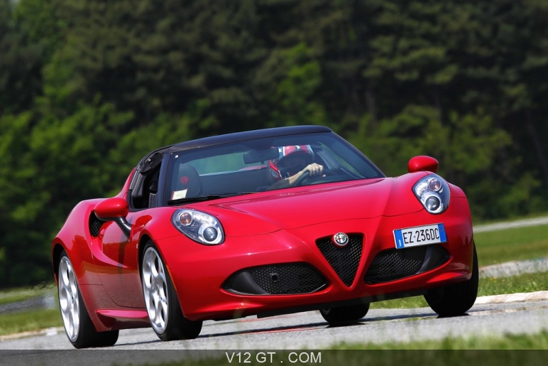 essai de l 39 alfa romeo 4c spider. Black Bedroom Furniture Sets. Home Design Ideas