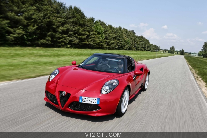 alfa romeo 4c spider rouge 3 4 avant gauche travelling pench alfa romeo photos gt les. Black Bedroom Furniture Sets. Home Design Ideas