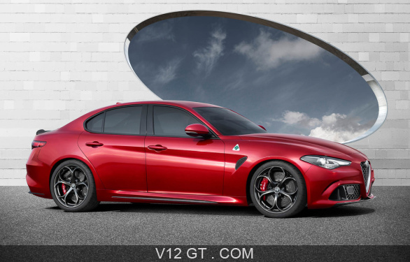 alfa romeo giulia quadrifoglio verde rouge profil droit alfa romeo photos gt les plus. Black Bedroom Furniture Sets. Home Design Ideas