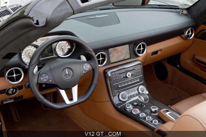 Mercedes SLS AMG Roadster marron intérieur / AMG / Photos GT / Les ...