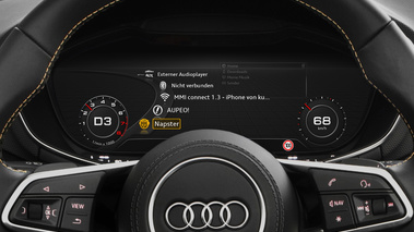 Audi TT interface Napster