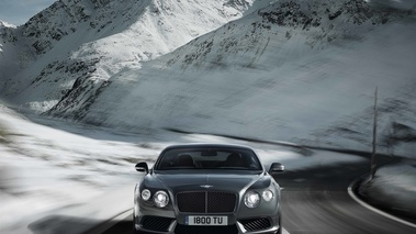 Bentley Continental GT V8 anthracite face avant travelling