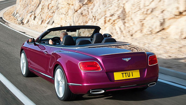 Bentley Continental GTC Speed violet 3/4 arrière gauche travelling