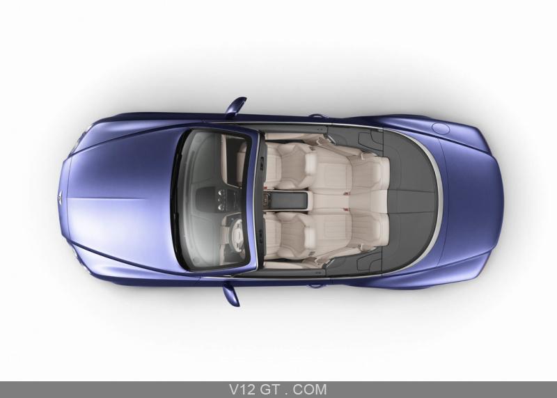 Bentley Continental Gtc V8 Bleu Vue Du Dessus Bentley