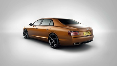 Bentley Flying Spur W12 S orange 3/4 arrière gauche