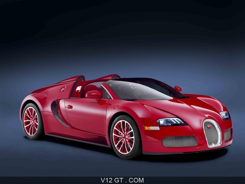 Bugatti Veyron Grand Sport rouge 3/4 avant droit / Bugatti / Photos GT / Les plus belles photos ...