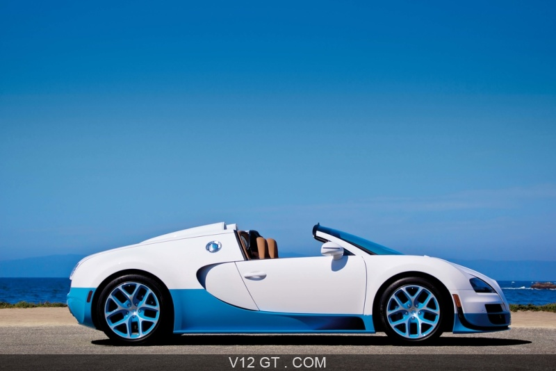 bugatti veyron grand sport vitesse blanc bleu profil bugatti photos gt les plus belles. Black Bedroom Furniture Sets. Home Design Ideas