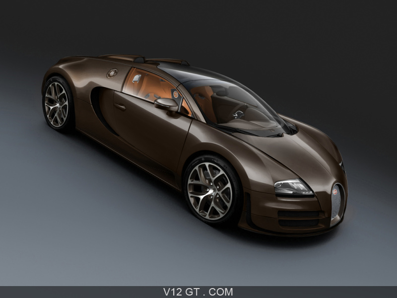 bugatti veyron grand sport vitesse marron 3 4 avant droit pench bugatti photos gt les. Black Bedroom Furniture Sets. Home Design Ideas