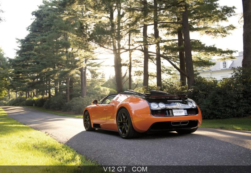 bugatti veyron grand sport vitesse orange noir 3 4 arri re gauche bugatti photos gt les. Black Bedroom Furniture Sets. Home Design Ideas