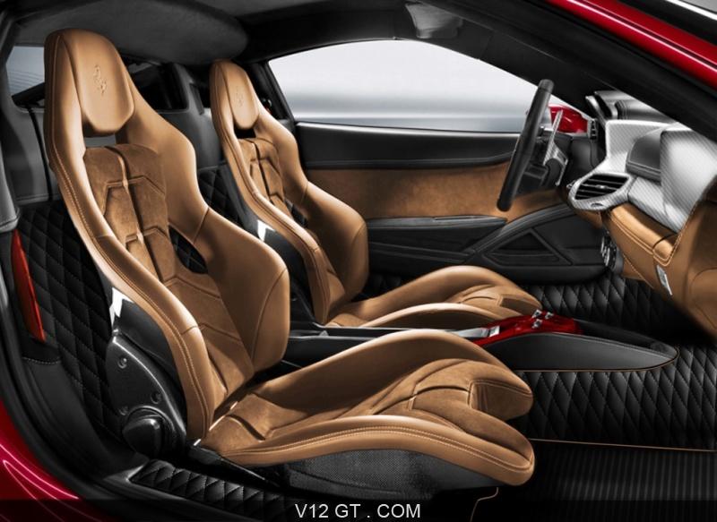 Ferrari 458 spider rouge int rieur ferrari photos gt for Interieur ferrari