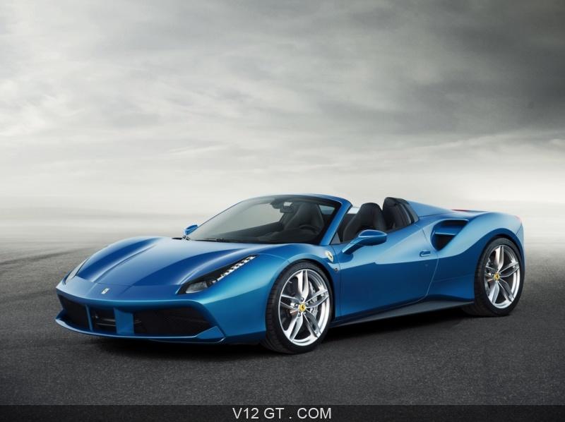 Ferrari 488 Spider Bleue 3 4 Avant Gauche Dynamique