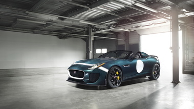 Jaguar F-Type Project 7 - bleue - 3/4 avant gauche