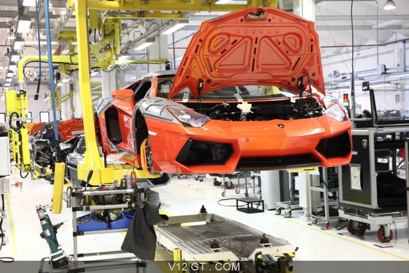 Usine Lamborghini Cha 238 Ne De Montage Aventador 6