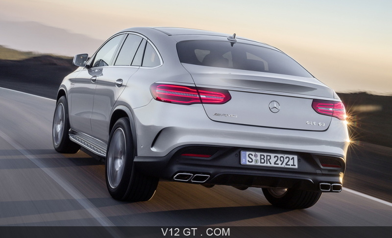 mercedes gle 63 amg coup gris 3 4 arri re gauche dynamique mercedes benz photos gt. Black Bedroom Furniture Sets. Home Design Ideas
