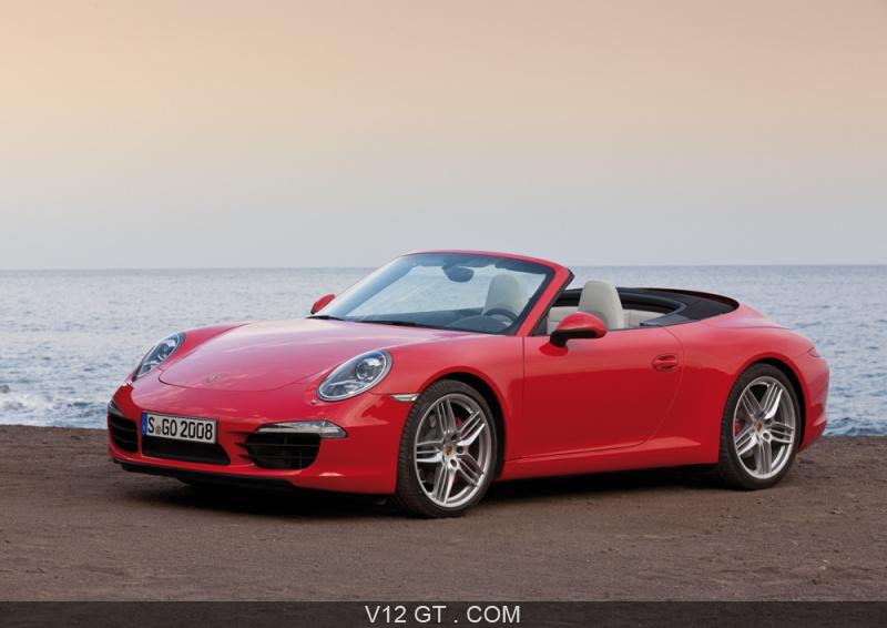 Porsche 991 Carrera S Cabriolet Rouge 3 4 Avant Gauche