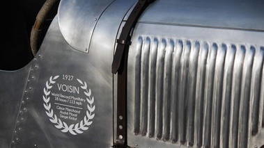 Festival Automobile International de Paris 2017 - Voisin Speedrecord sangle capot